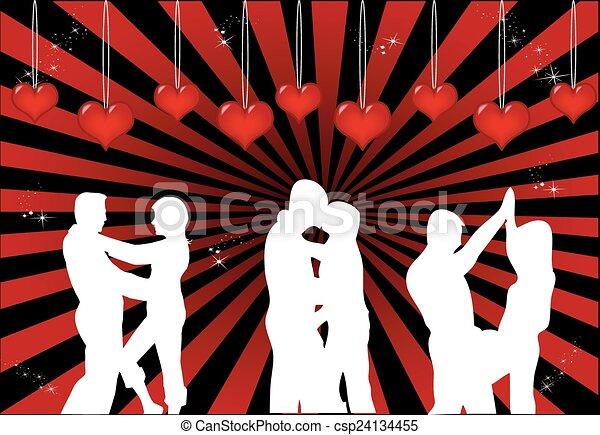 Una pareja de baile - csp24134455