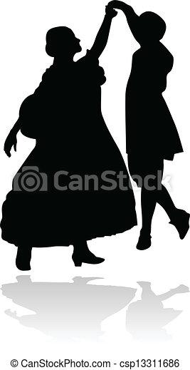 Una pareja de baile - csp13311686