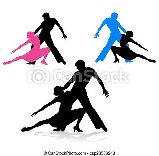 Una pareja de baile - csp23583243