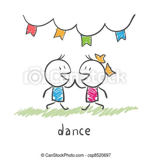 Una pareja de baile - csp8520697