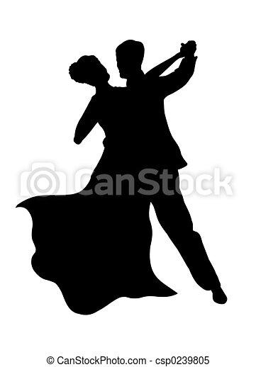 Una pareja de baile - csp0239805