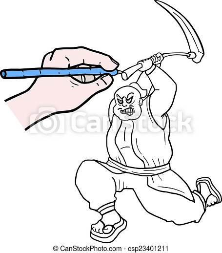 Dibuja dibujos animados - csp23401211