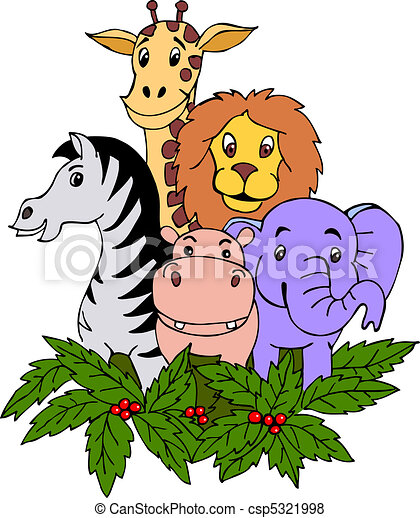 Dibuja a mano animal safari - csp5321998