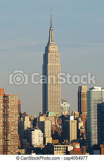 Empire State building closeup, Manhattan, New York City - csp4054977