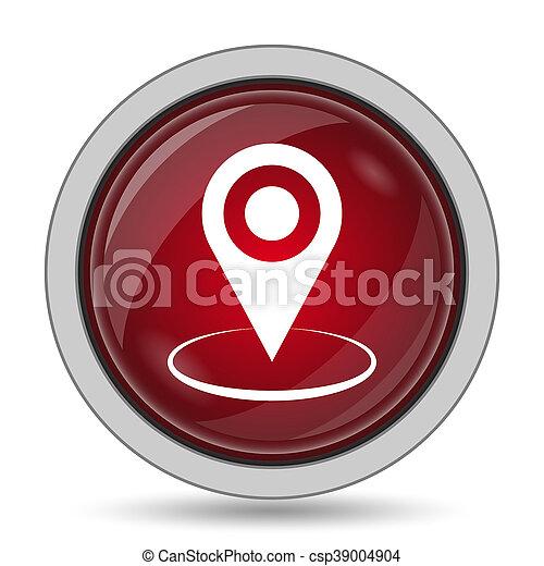 emplacement, épingle, icône - csp39004904