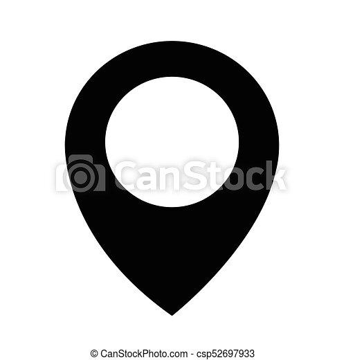 emplacement, épingle, icône - csp52697933