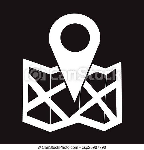 emplacement, icône - csp25987790