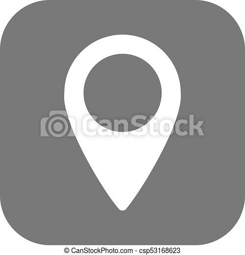 emplacement, vector., icône - csp53168623