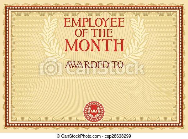 Empleado del mes, certificado - csp28638299
