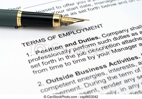 Contrato de empleo - csp8653042