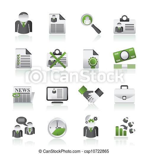 Empleo y íconos de trabajo - csp10722865