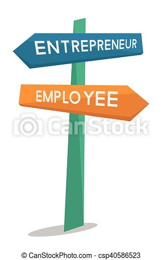 employé, entrepreneur, signe., route - csp40586523