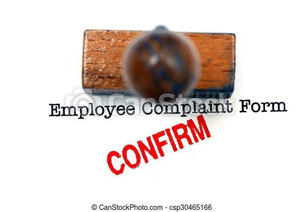 employé, plainte, formulaire - csp30465166