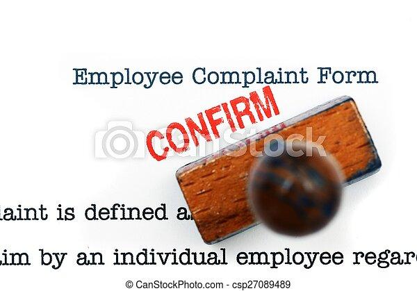 employé, plainte, -, formulaire, confirmer - csp27089489