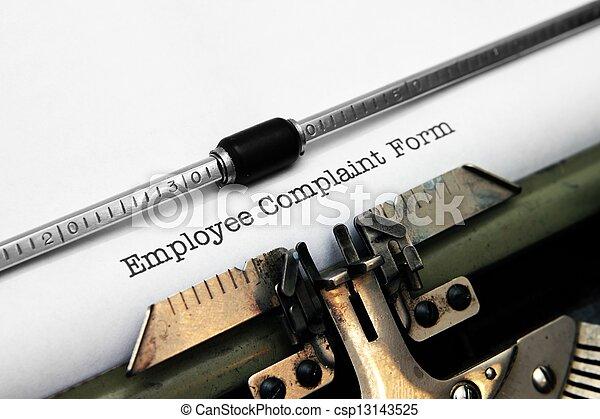 employé, plainte, formulaire - csp13143525