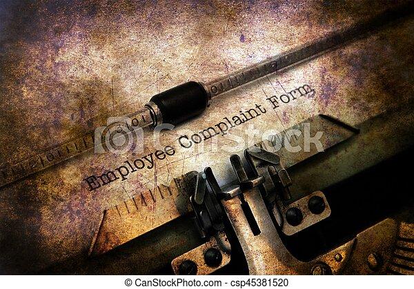 employé, plainte, formulaire - csp45381520