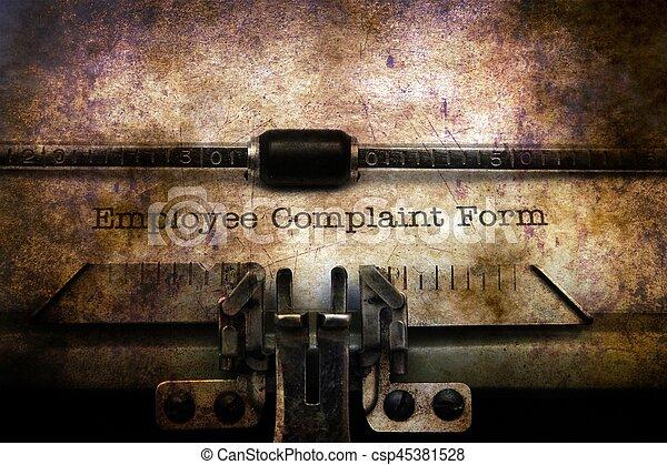employé, plainte, formulaire - csp45381528