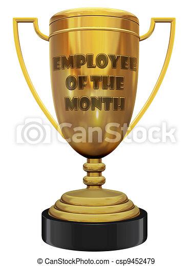 employé, trophée, mois - csp9452479
