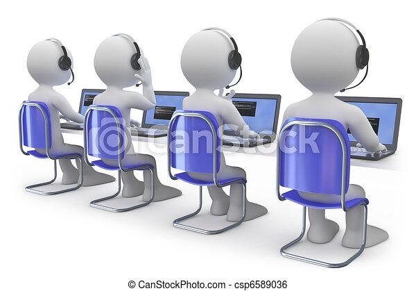 employés, téléopérateur, fonctionnement - csp6589036