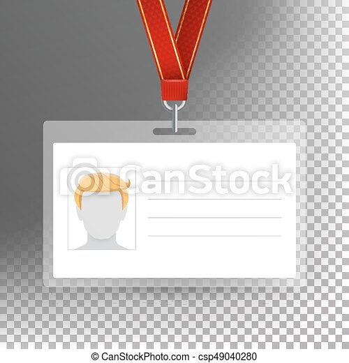 Employee Card Vector Blank Identification Card Template  Vector