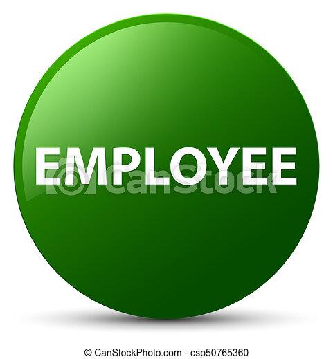 Employee green round button - csp50765360