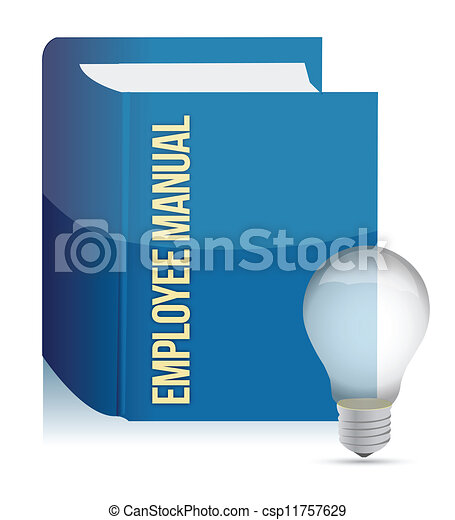 employee manual book - csp11757629