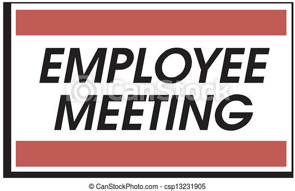 employee meeting - csp13231905