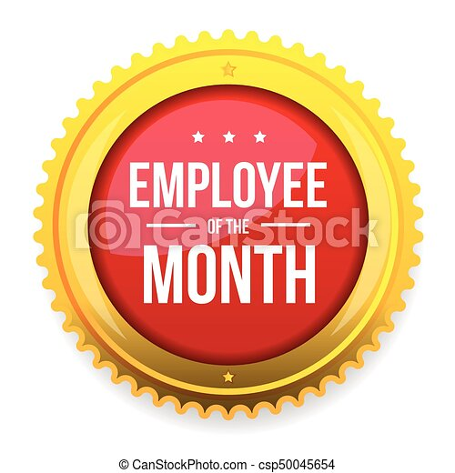 Employee of the month award badge - csp50045654