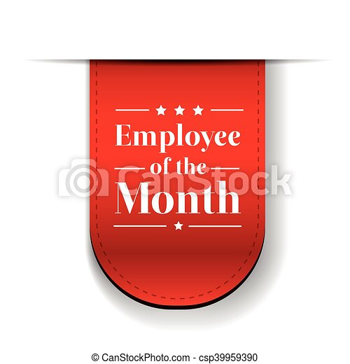 Employee of the Month award ribbon - csp39959390