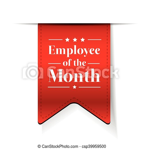 Employee of the Month award ribbon - csp39959500