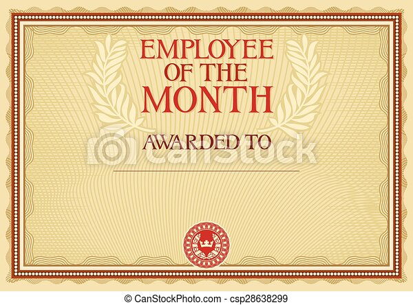 employee of the month - certificate - csp28638299