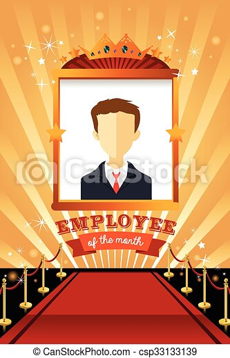 employee of the month poster frame csp33133139