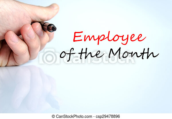 employee of the month text concept employee of the month text