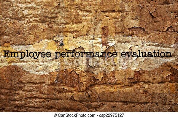 Employee performance evaluation - csp22975127