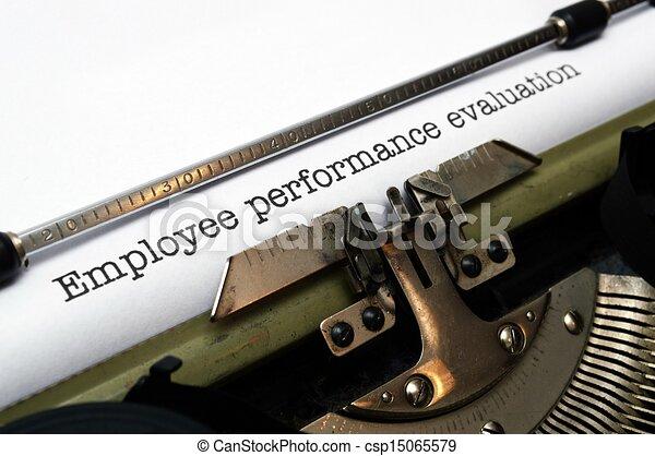 Employee performance evaluation - csp15065579