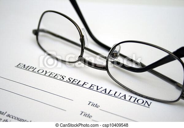 Employee self evaluation - csp10409548