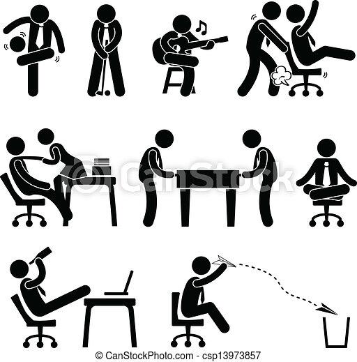 Employee Worker Office Fun - csp13973857