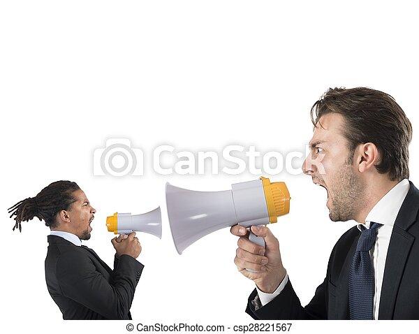 Employee yelling against boss - csp28221567