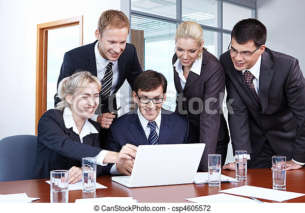 Employees in the office - csp4605572