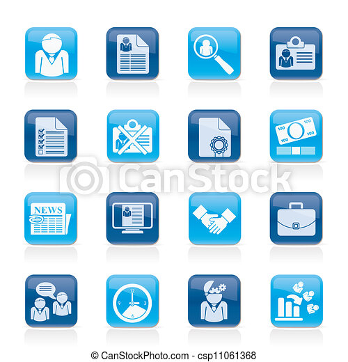 Employment and jobs icons - csp11061368