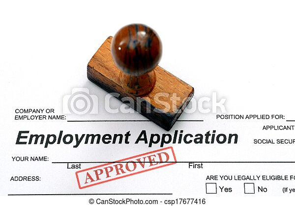 Employment application - approved - csp17677416