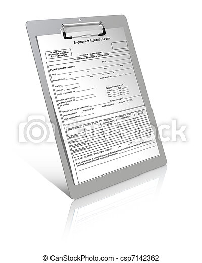 Employment application form  - csp7142362