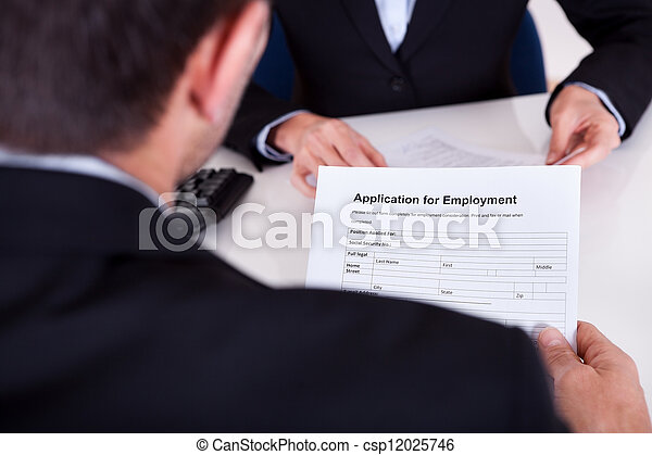 Employment interview and application form - csp12025746