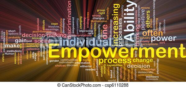 empowerment, 概念, 骨, 白熱, 背景 - csp6110288