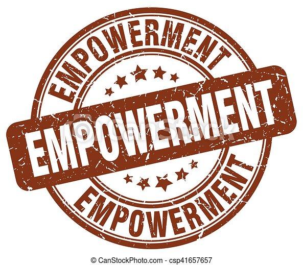 empowerment brown grunge stamp - csp41657657