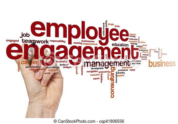 empregado, obrigação, conceito, palavra, nuvem - csp41806556