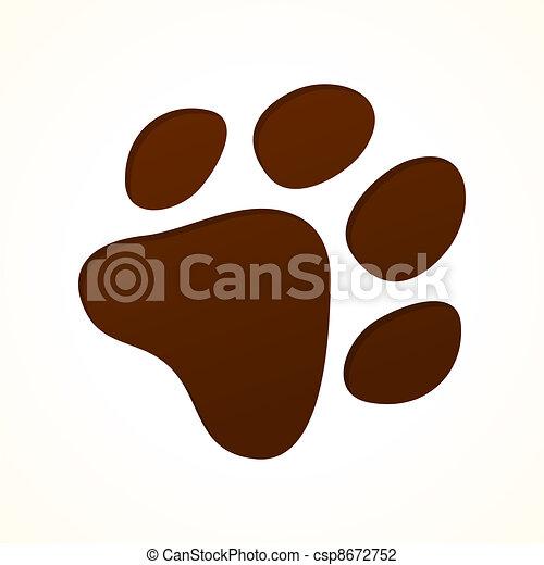 empreinte, brun - csp8672752