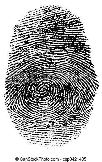 empreinte doigt - csp0421405
