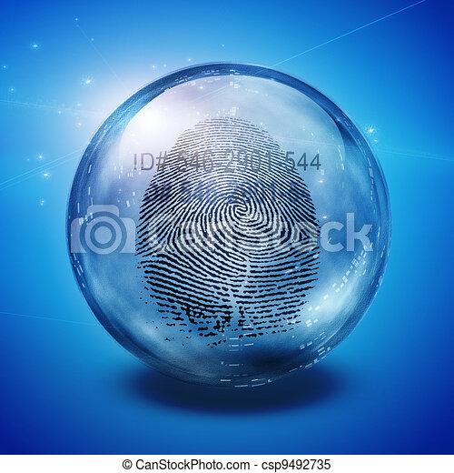 empreinte doigt - csp9492735