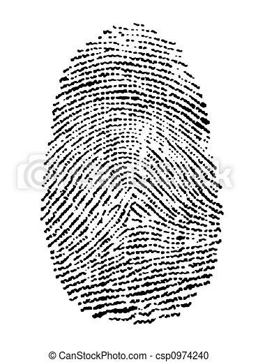 empreinte doigt - csp0974240